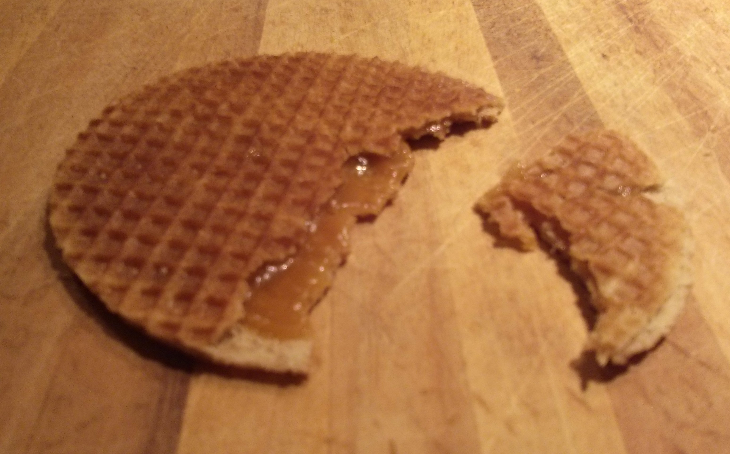warmed stroopwafel